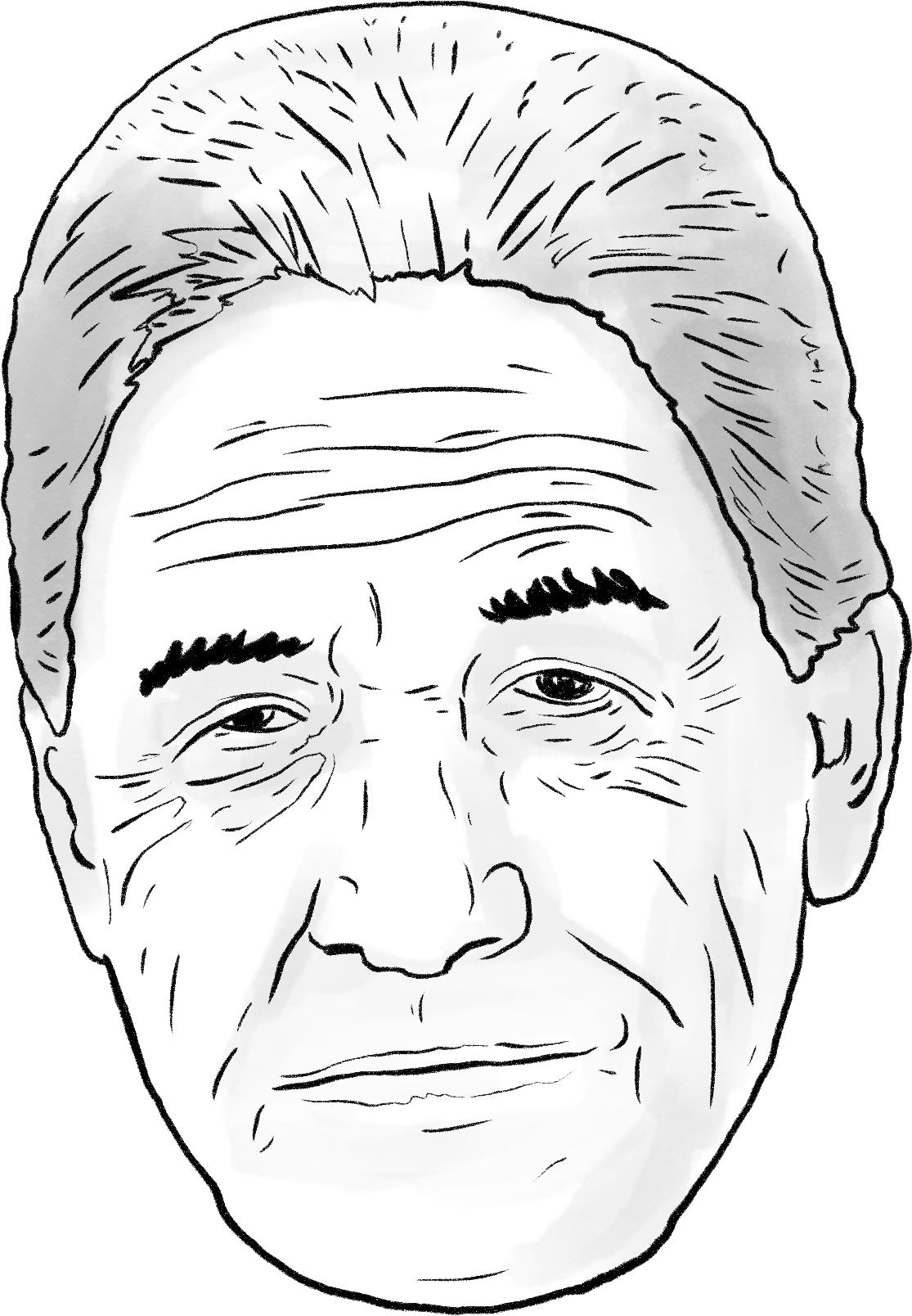 image free homeless drawing people's face #97843089