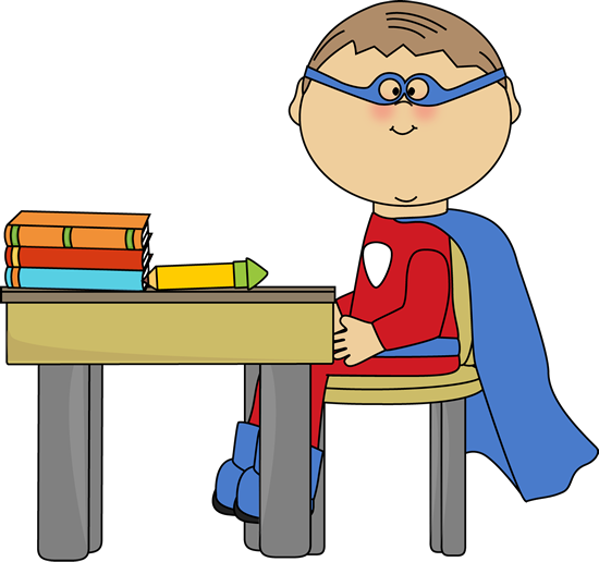 clip art black and white library Superhero . Writer clipart school