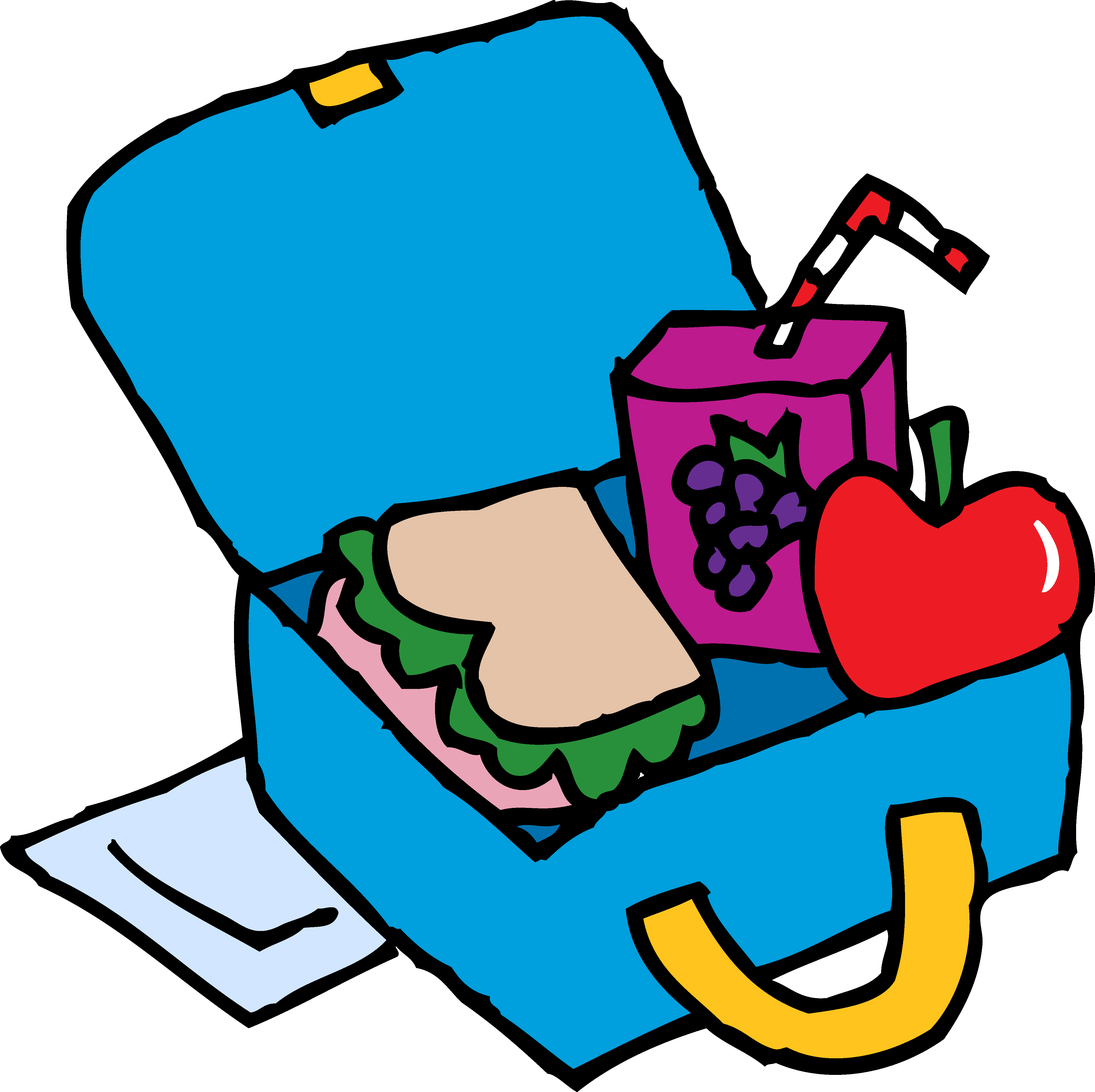jpg royalty free library Nap clipart lunch time. School box clip art.