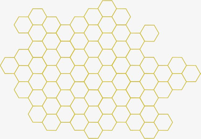 freeuse stock Honeycomb clipart. Geometric honey bee sweet.