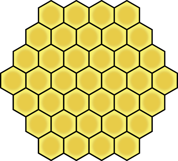 image free stock Clip art at clker. Honeycomb clipart border