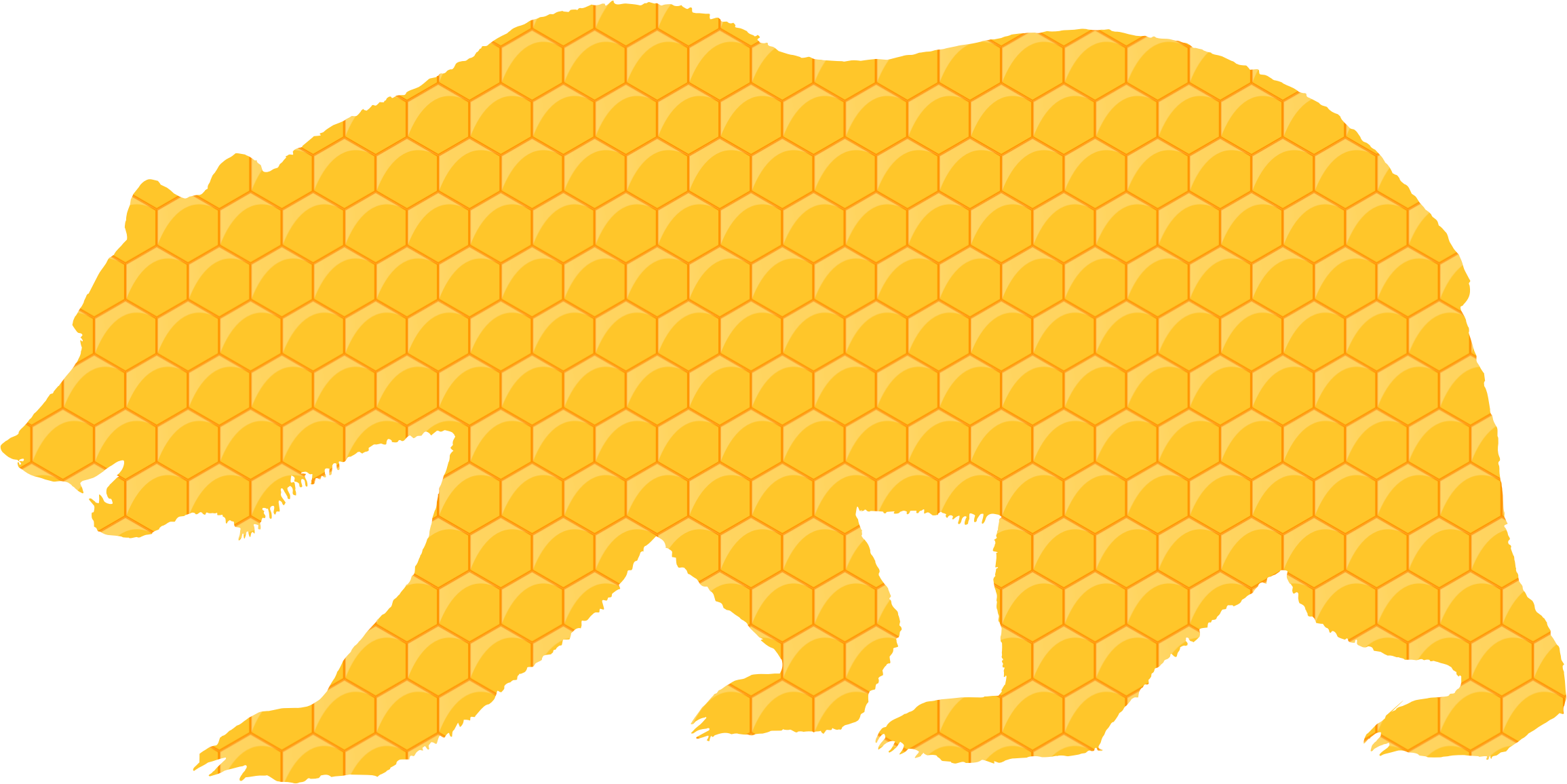 graphic library library Honeycomb clipart border. Bear icons png free