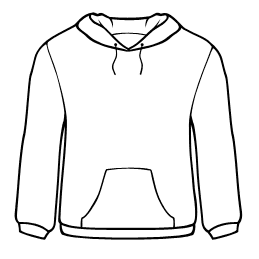 clip art freeuse stock Drawing sweaters hoodie. Free cliparts download clip