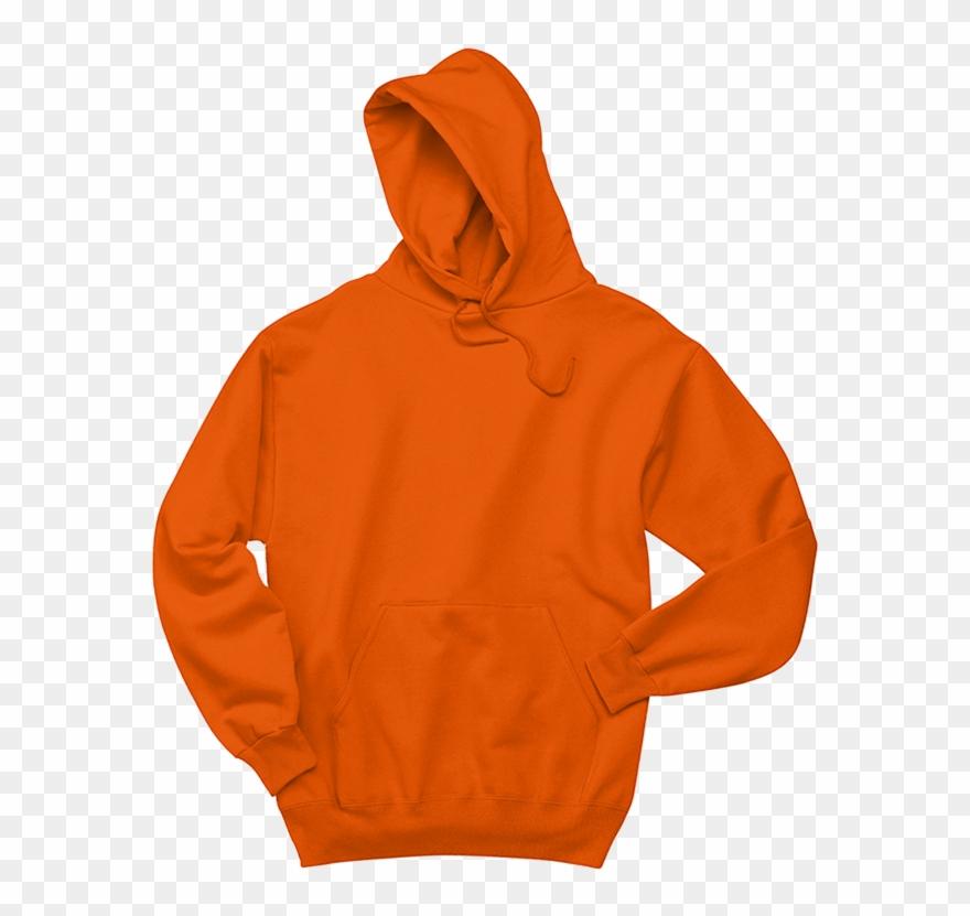 stock Hoodie clipart. Sweatshirt orange polyester png.