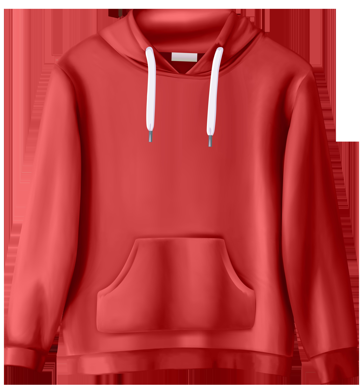 clip art freeuse Red png clip art. Sweatshirt clipart.
