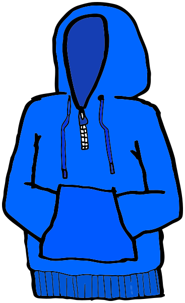 banner library stock Hoodie clipart blue hoodie. Hands in pouch clothes.