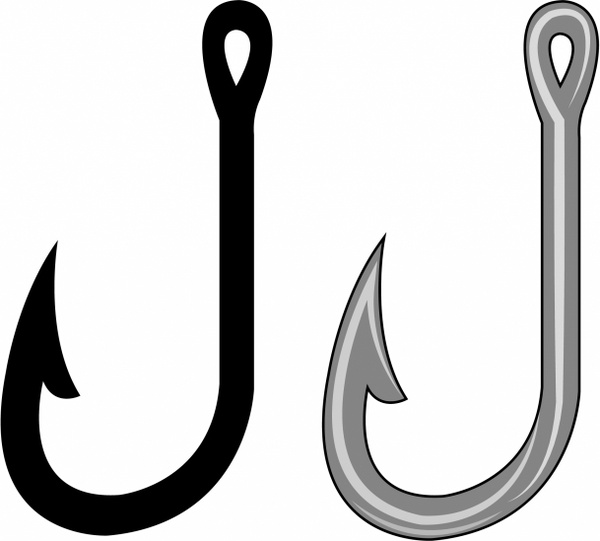 jpg black and white library Free fishing cliparts download. Hook clipart