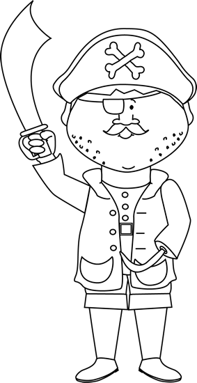image black and white stock Hook clipart black and white. Pirate with a arm