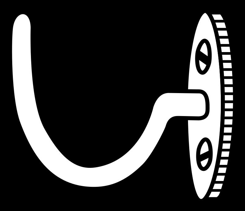 clip art Hook clipart black and white. Line art medium image