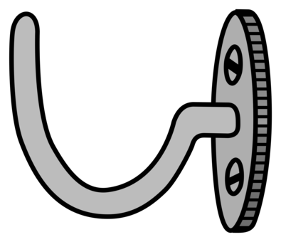 clipart library stock Hook clipart black and white. Dress computer icons clothing