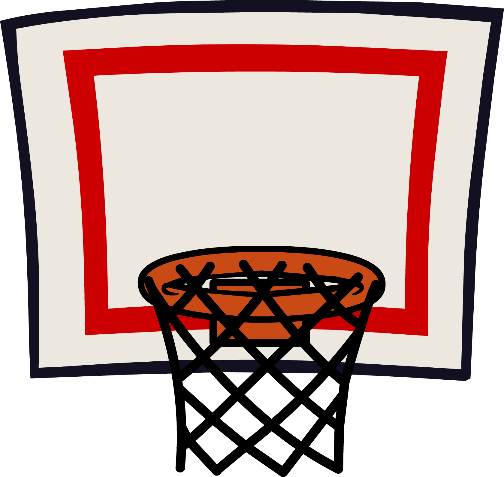 clip art black and white library Basketball clip hoop clipart. Ring basket ball art