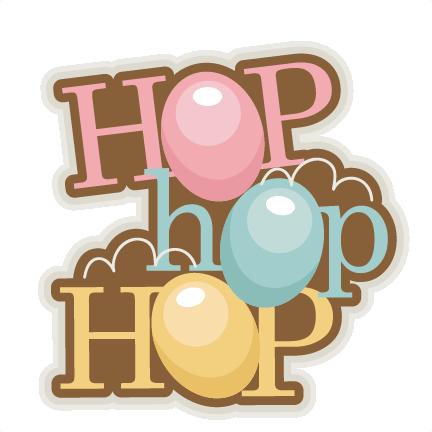 jpg stock Hop title easter bunny. Scrapbook clipart.