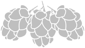 png black and white Grey stencil clip art. Hops clipart