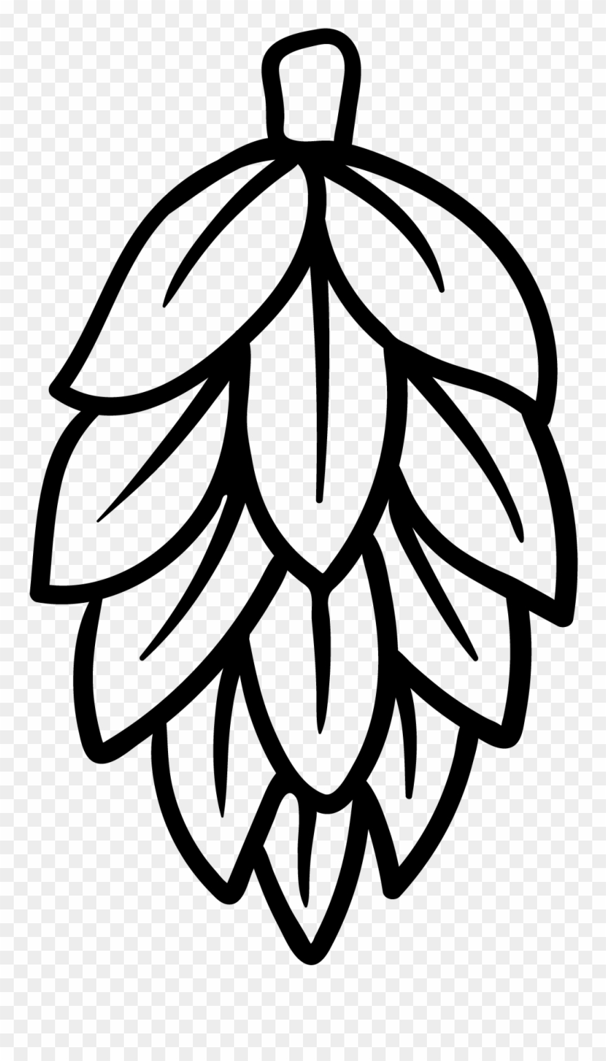png black and white Hops clipart. Black and white beer