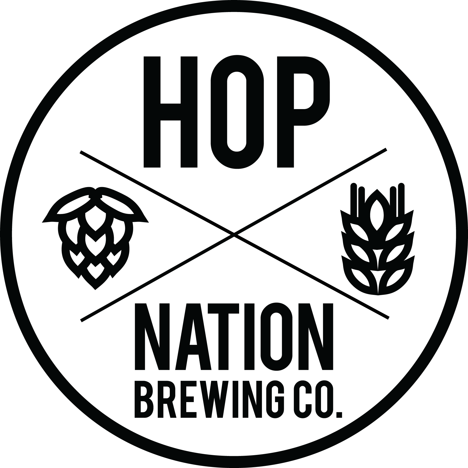 clipart download Hops clipart black and white. Hop nation brewing co