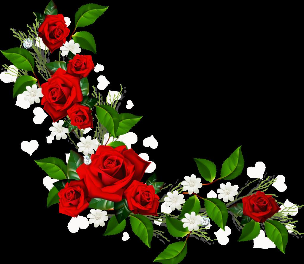 black and white Horizontal flower border image. Free borders clipart