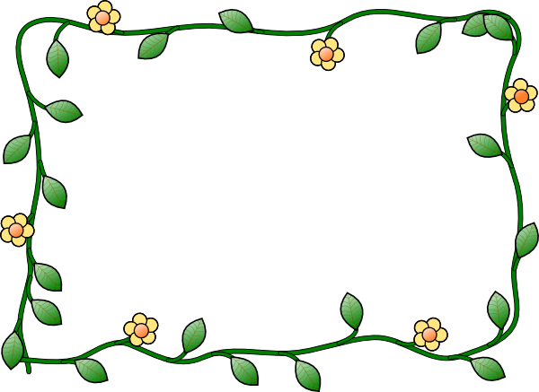 jpg library stock Horizontal Flower Border Clipart