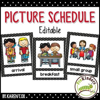 svg freeuse download Horizontal clipart preschool. Picture schedule editable pre
