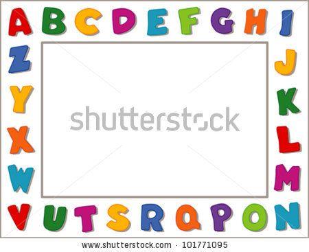 banner library stock Horizontal clipart preschool. Education boarders vector alphabet
