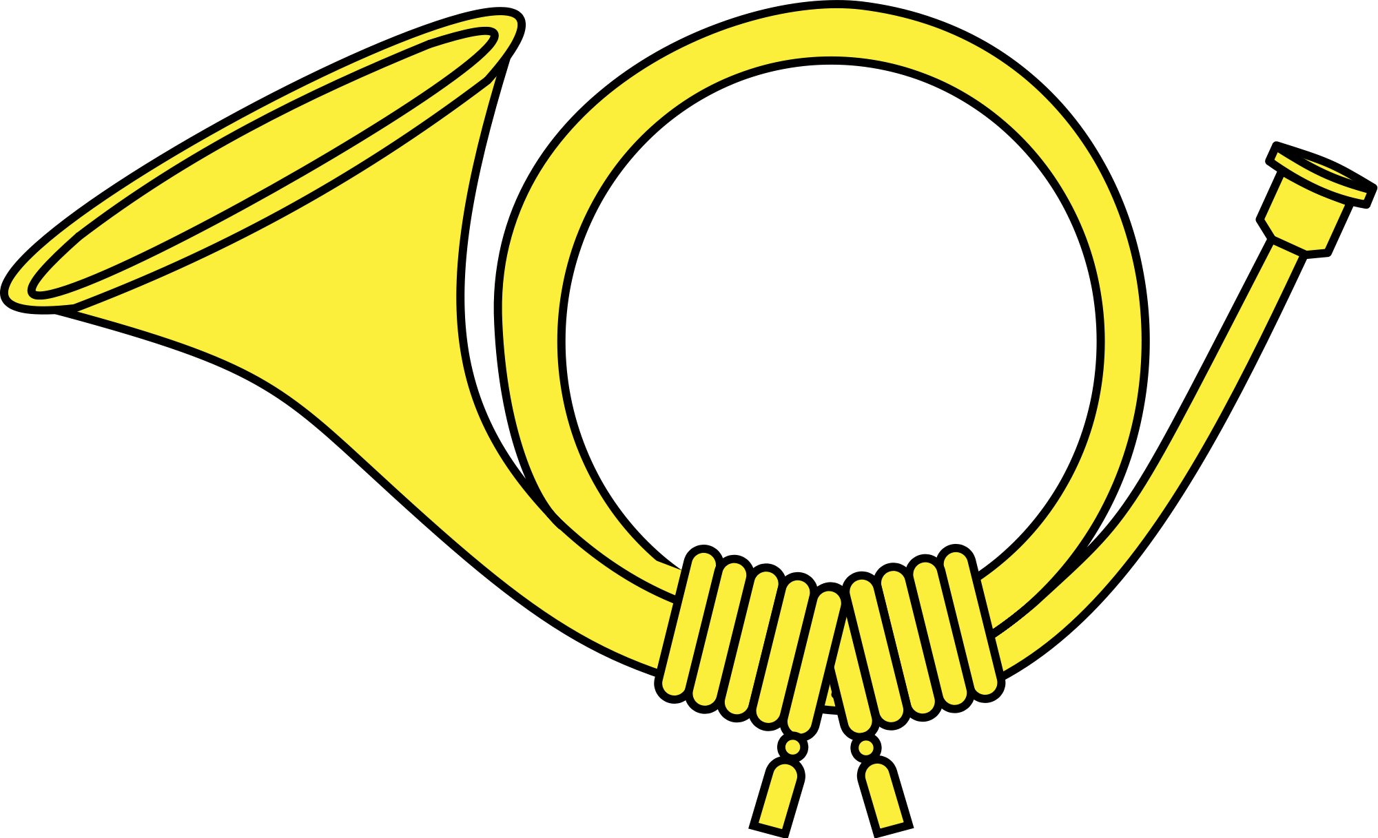 jpg royalty free download Horn clipart. Yellow post transparent png