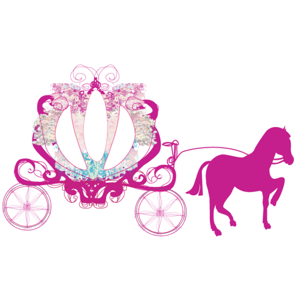 vector free stock Princess Horse and Buggy Wheelchair Costume Child