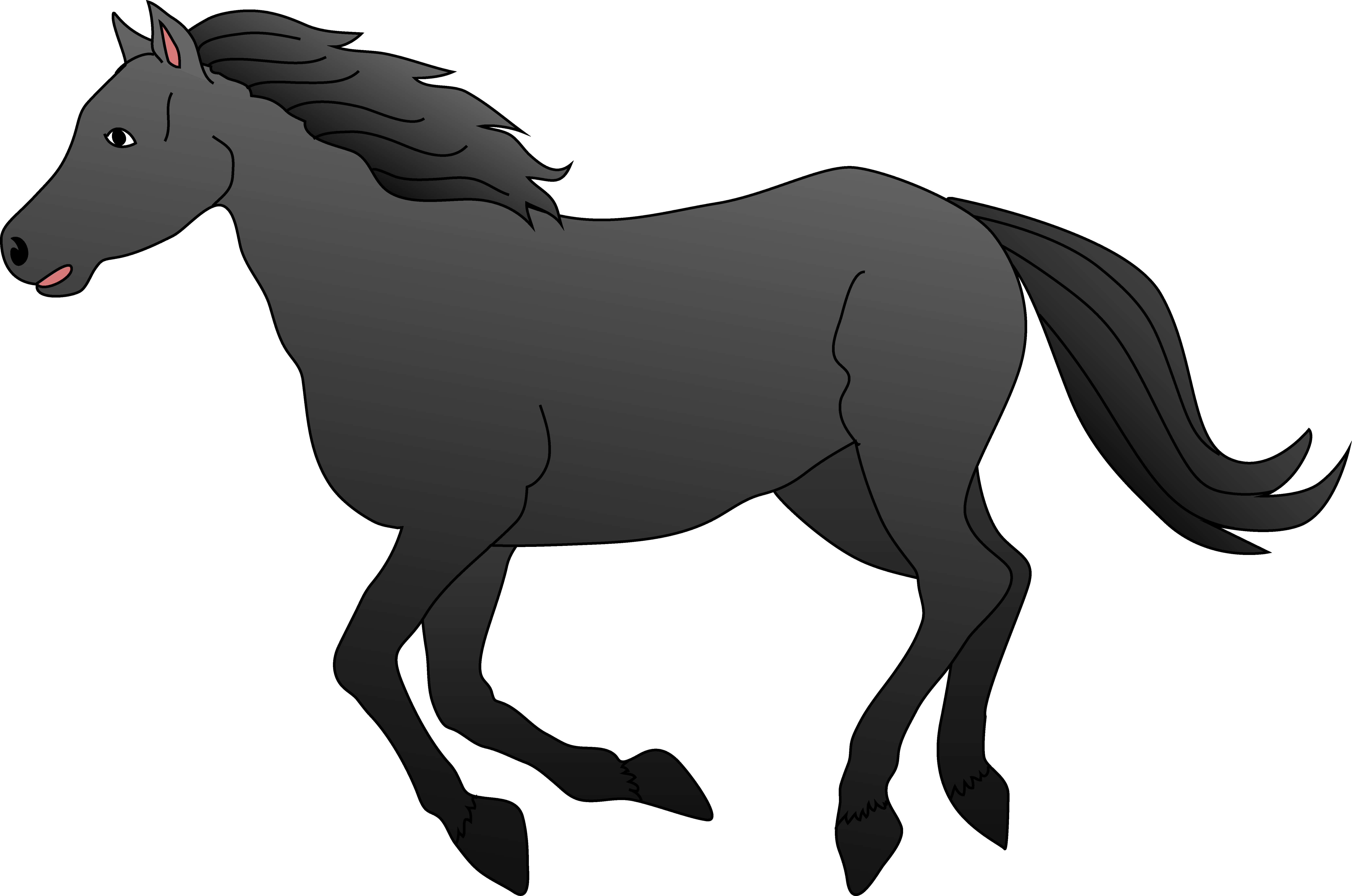 svg black and white Horse clipart. Clip art black and.