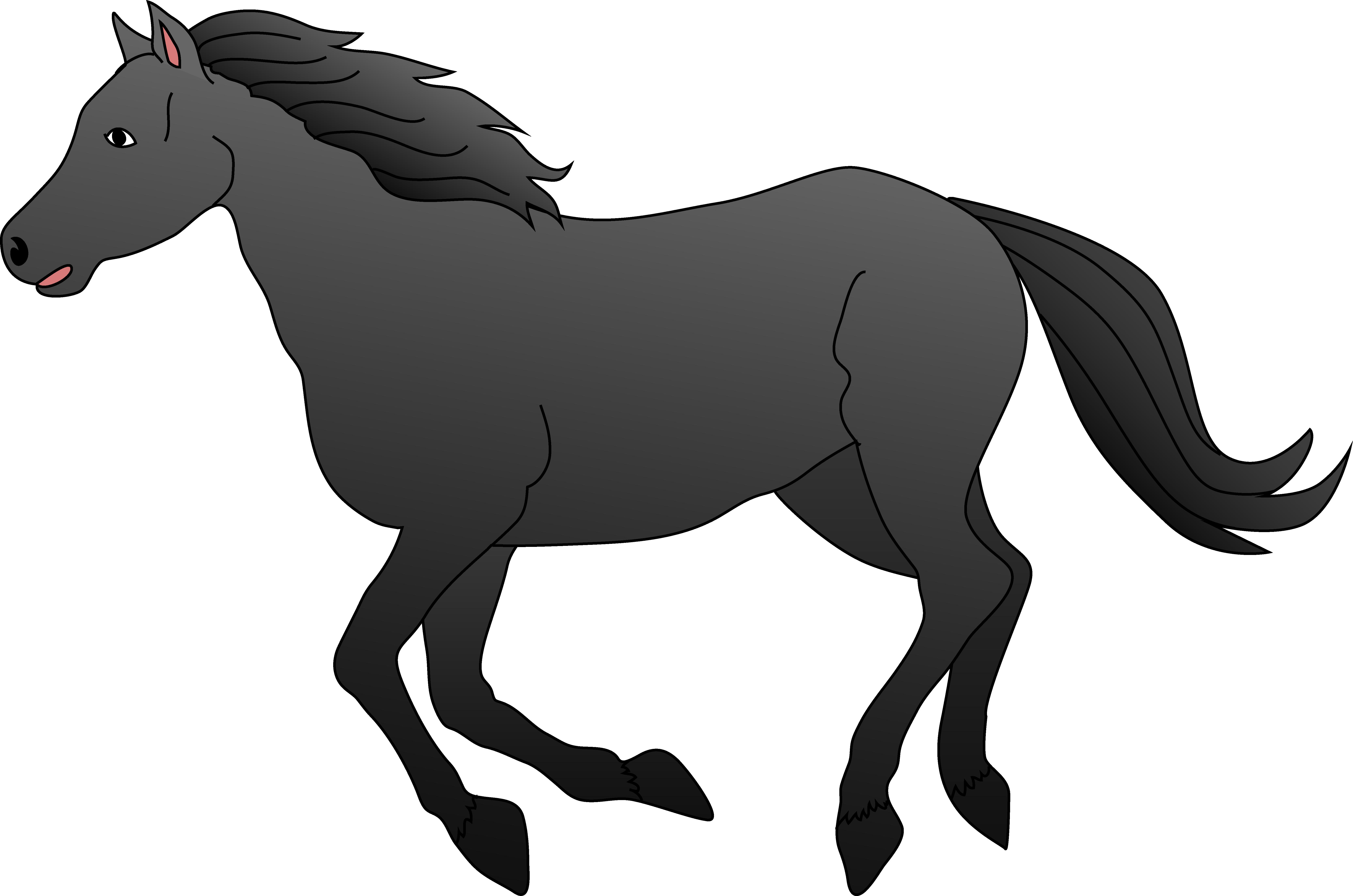 image Horse Clip Art Black And White