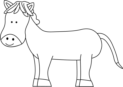 vector library stock Pony clipart black and white. Cute clip art horse