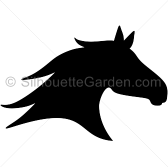 banner freeuse library Horse head silhouette clip art