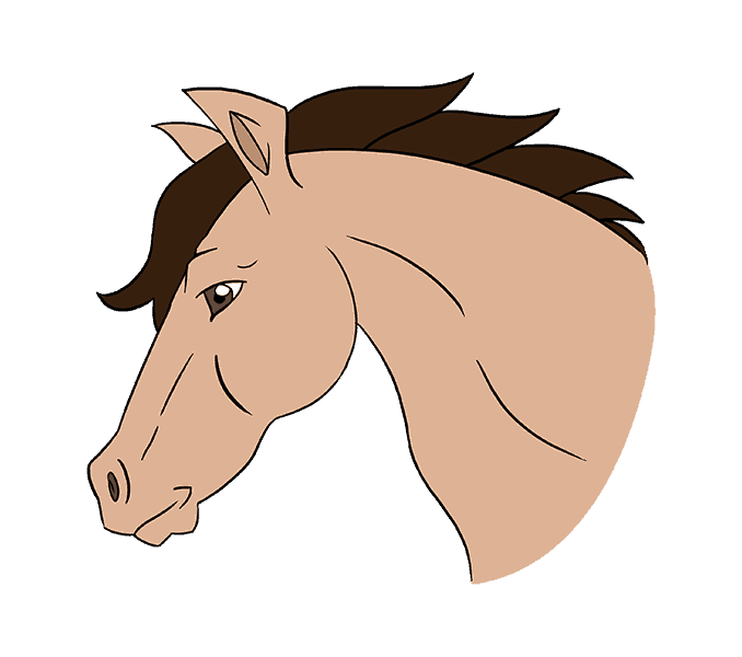 clip library stock Horse Head Drawing Easy at GetDrawings