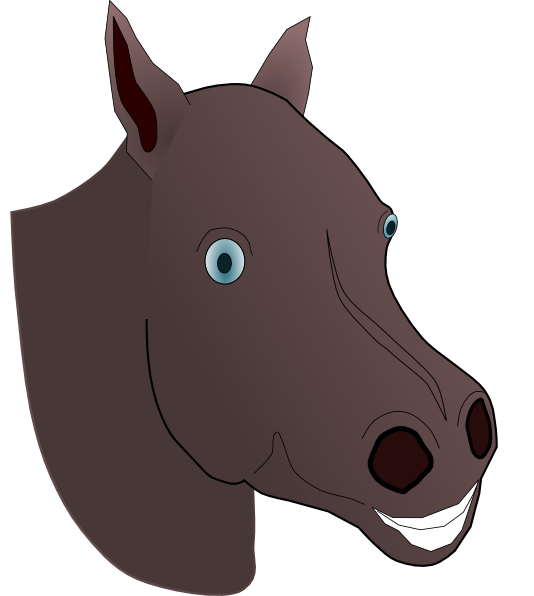 clipart black and white Horse Head Clip Art at Clker