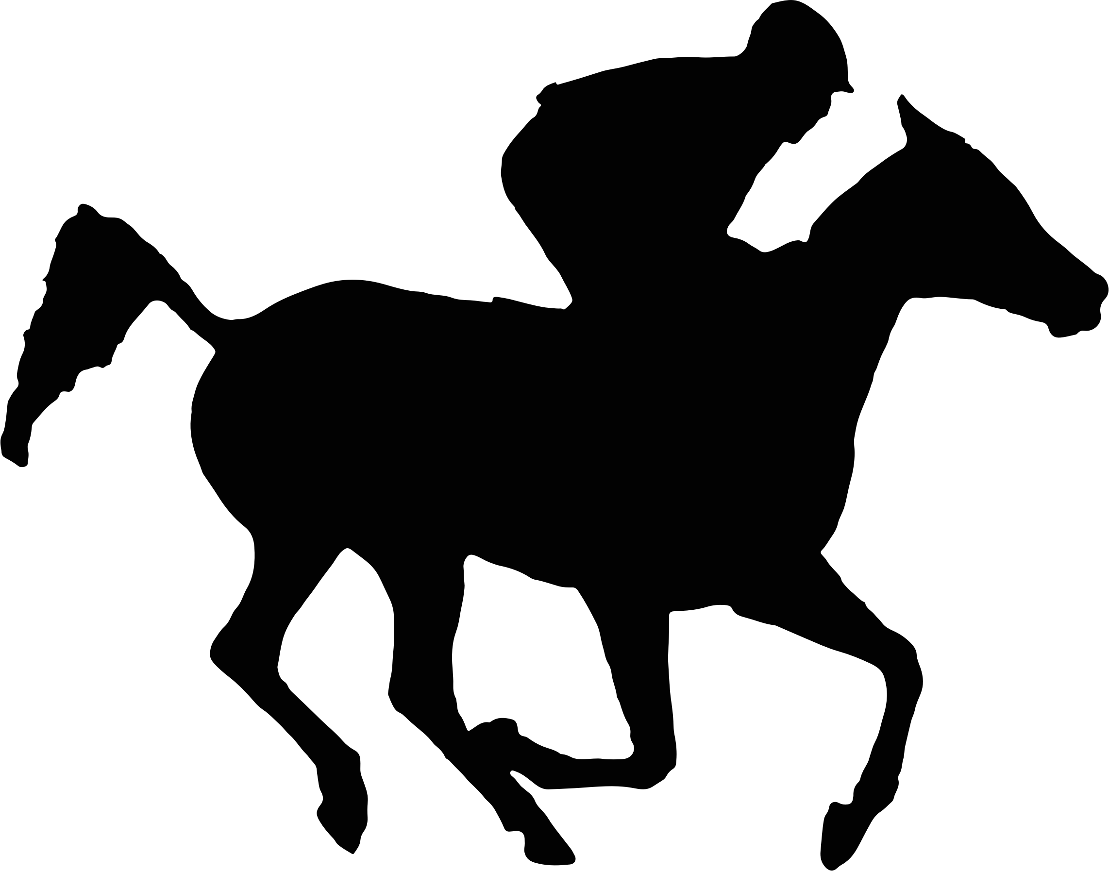 vector library Racing Horse Silhouette at GetDrawings