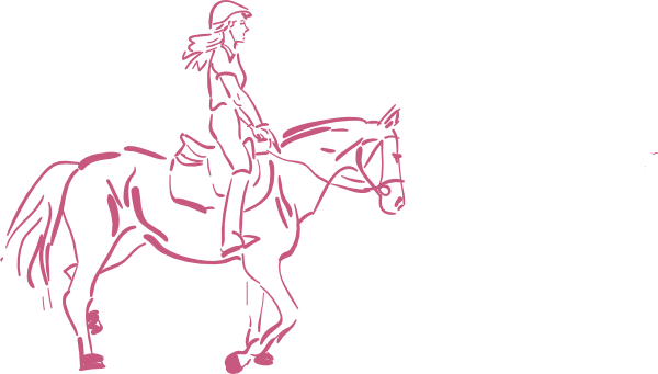 banner royalty free library Horse Riding Girl Clip Art at Clker