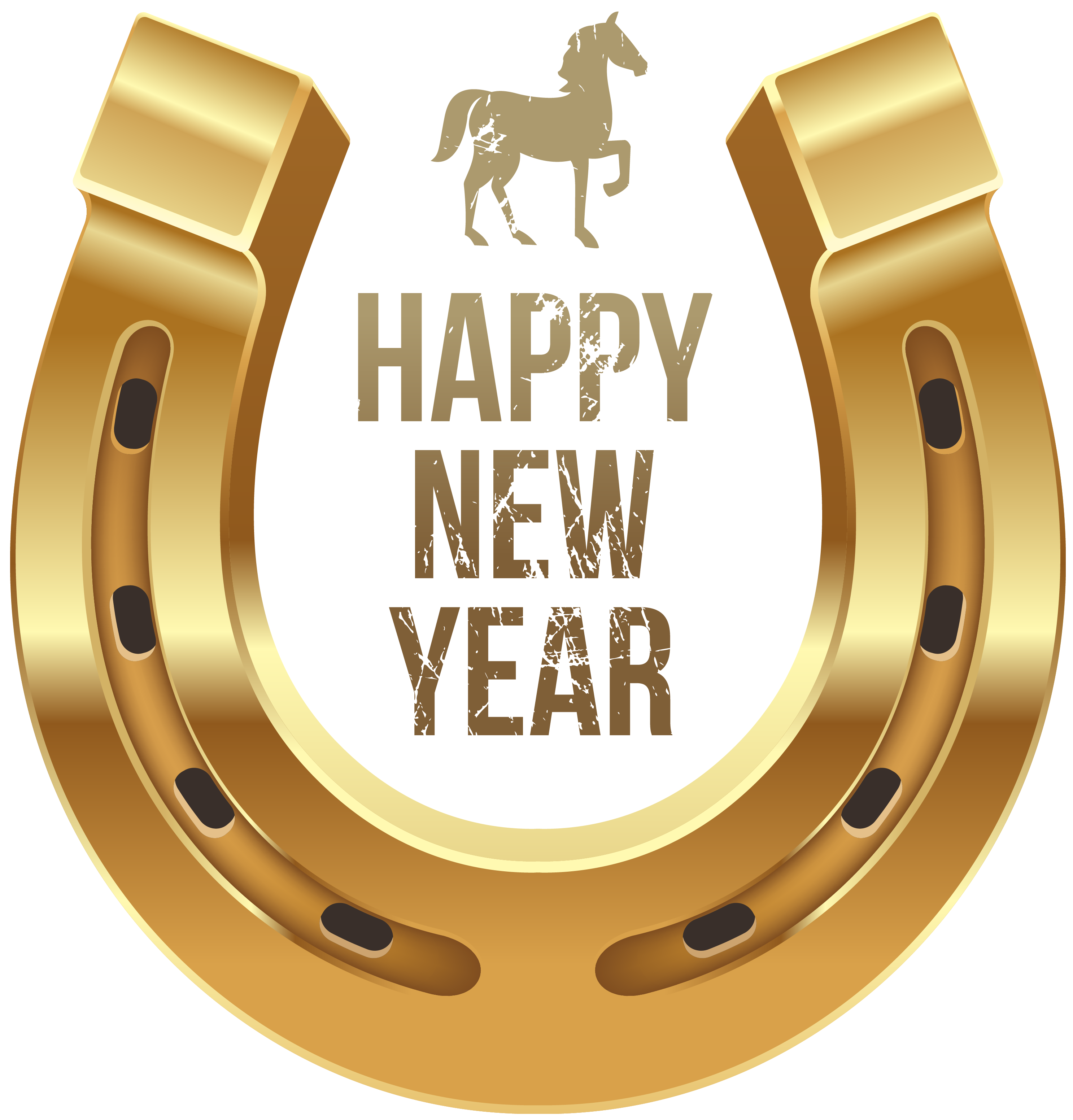 clip library download Horseshoe clipart. Happy new year with.