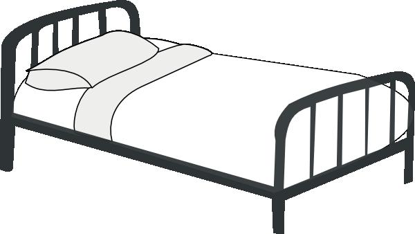 svg transparent Bed Outline Clip Art at Clker