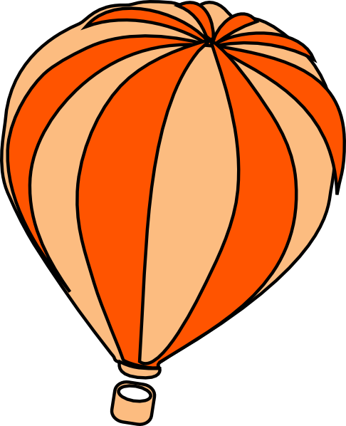 royalty free stock Hot Air Balloon Grey Clip Art at Clker