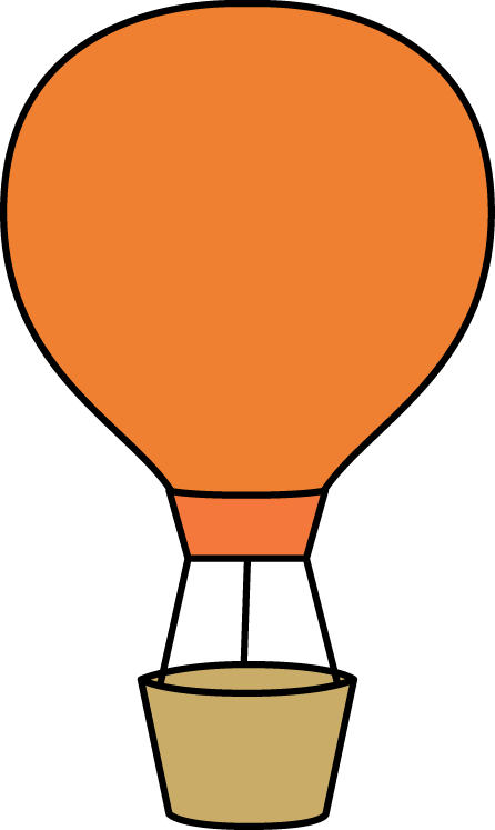 image royalty free Orange Hot Air Balloon