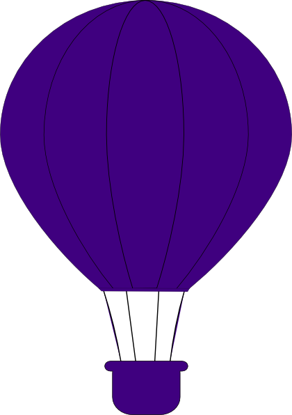 png freeuse download Hot Air Balloon Clipart purple