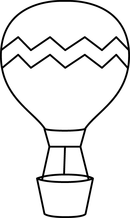 clip library Black and White Striped Hot Air Balloon Clip Art