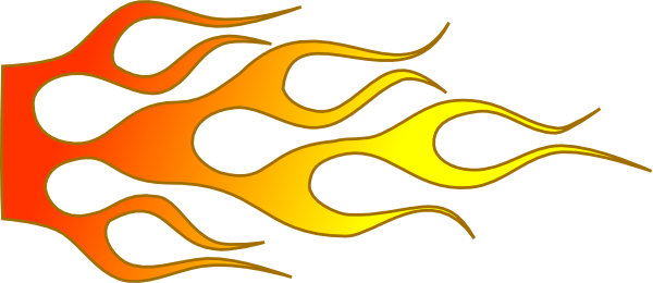 jpg freeuse stock Hot clipart. Rod flames racing flame.