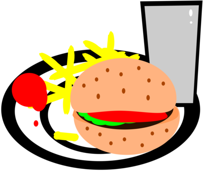 vector freeuse download Hot dog chips and drink clipart. Taco salad mexican cuisine.