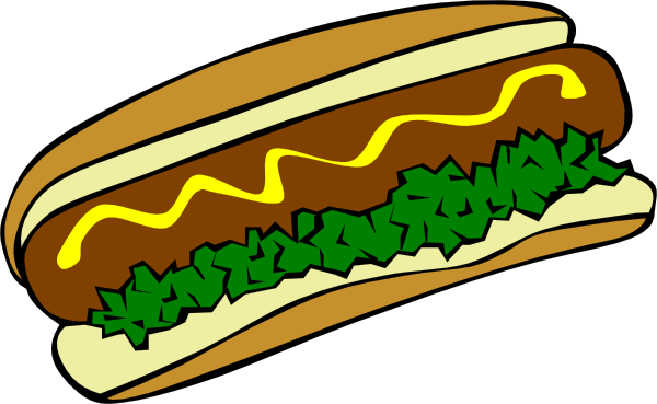 png black and white library Hot Dog Clip Art at Clker