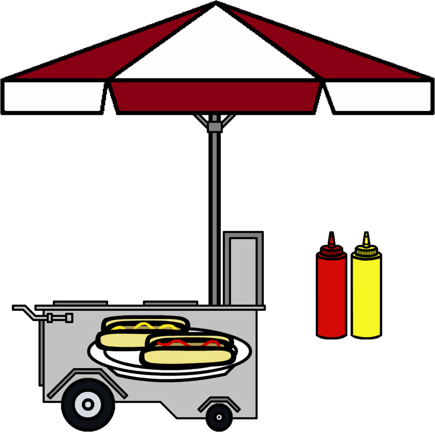 freeuse Ketchup mustard clipart. Hot dog stand photo