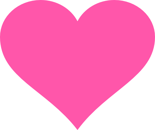 clip royalty free stock Hot Pink Heart Clip Art at Clker