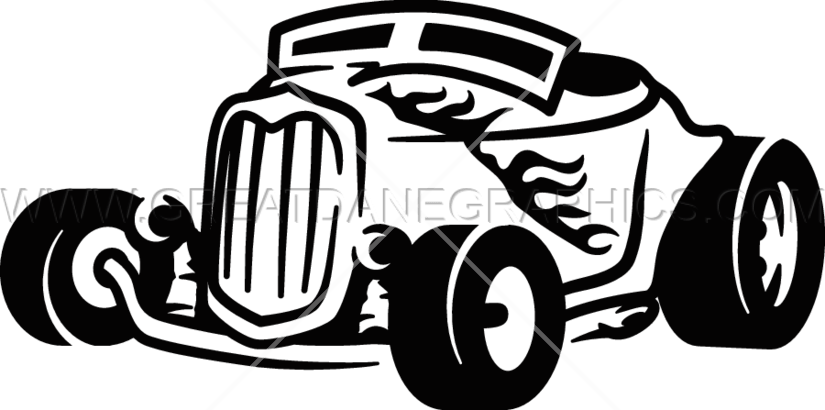 picture freeuse download Vintage hot rod clipart collection