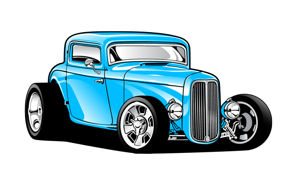 png black and white download hot rods clipart #64898921