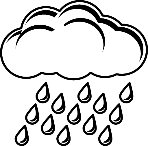 graphic free  collection of rainy. Weather clipart black and white