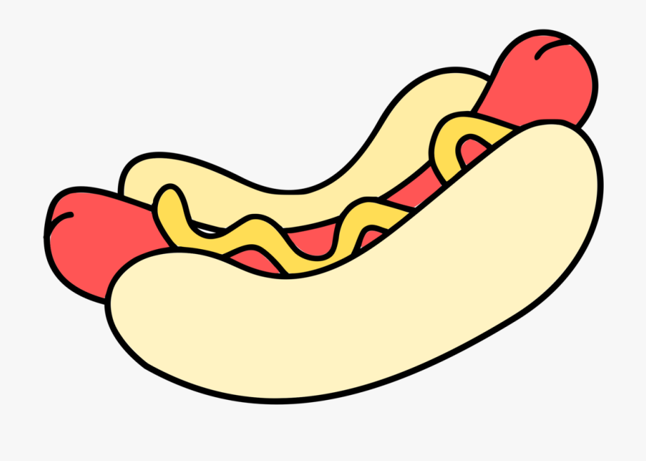 png transparent Colour hot dog clip. Hotdog clipart.