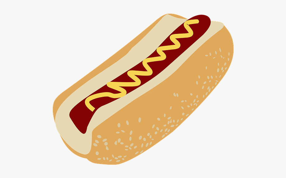picture library download Hotdog clipart. Food cookout hot dog.