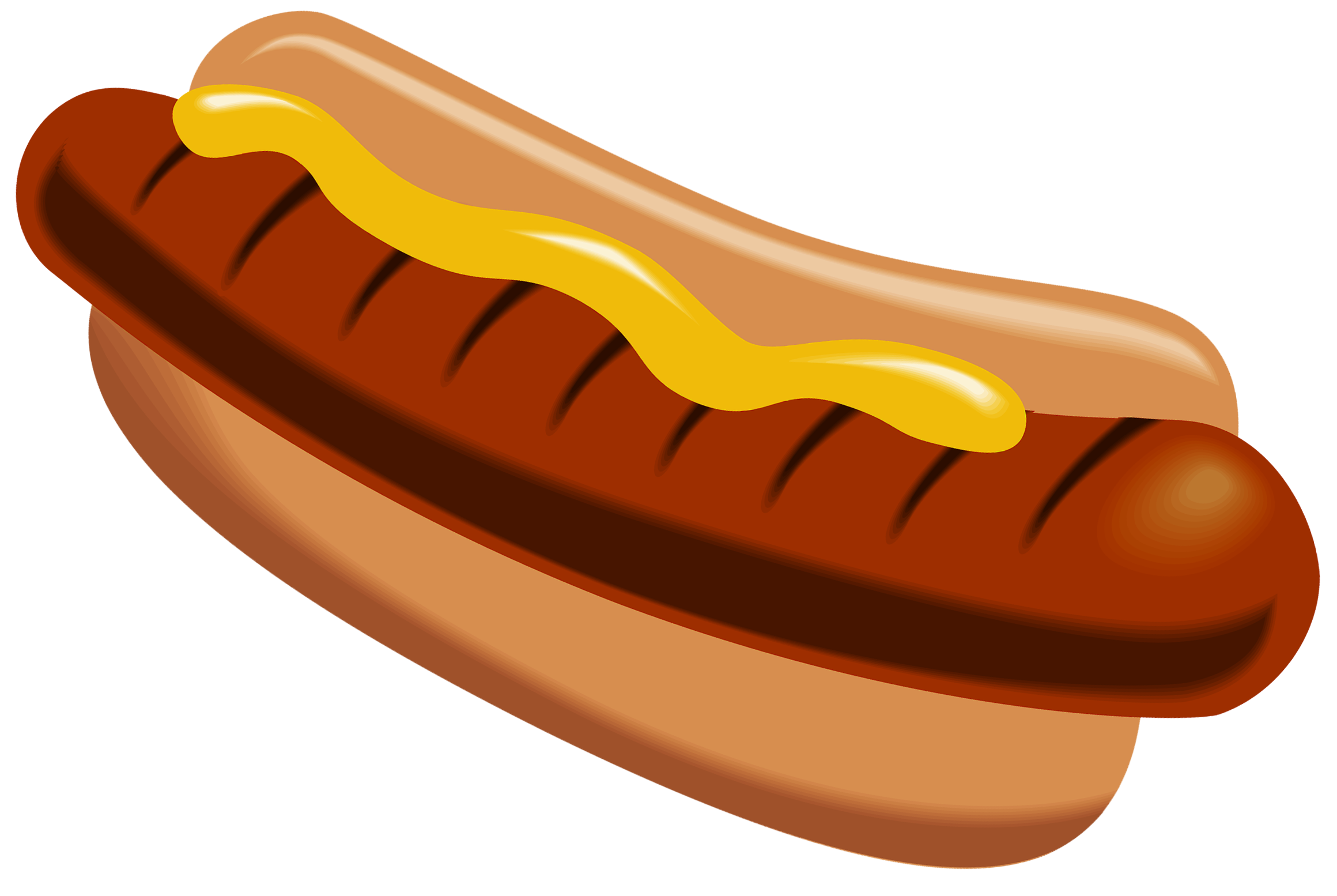 picture library stock Hotdog clipart. Hot dog with mustard.